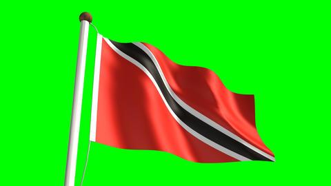 Trinidad and Tobago flag Animation