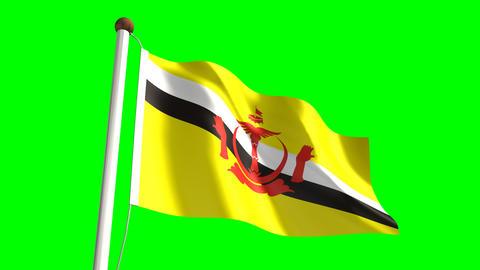 Brunei flag Animation