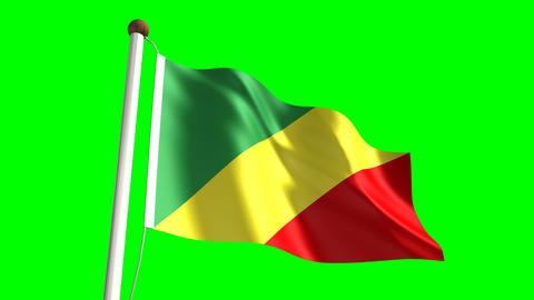 Congolese flag Animation