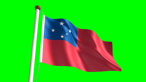 Samoa flag Animation