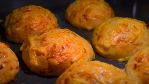 Cheese Buns Baking Timelapse stock footage