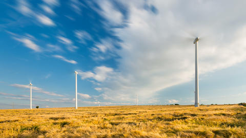 Wind Turbines Long Exposure Timelapse Footage