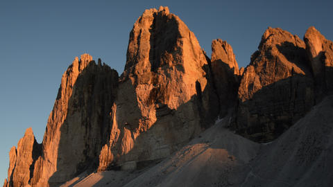 4k UHD sunset time lapse tre cime de lavared 11580 Footage