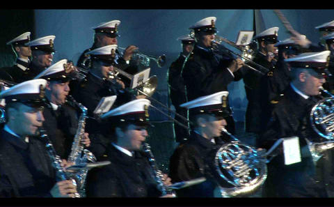 Military orchestra on demonstrations Live Action