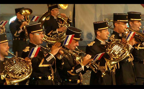 French military orchestra music, performances on R Footage
