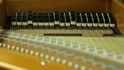 Work Hammers Inside The Grand Piano, Close-up stock footage