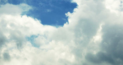 4k timelapse white clouds smoke flying in blue sky Footage