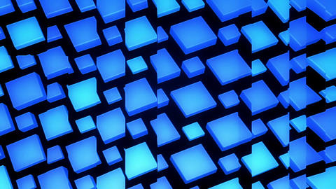 3D Looping Background - Glass panels on blue cubes Animation