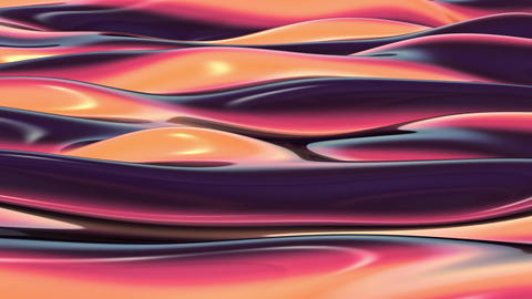 3D Looping Background - Raspberry liquid streams Animation
