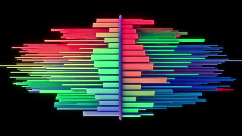 Abstract audio visualizer multicolored equalizer Animation