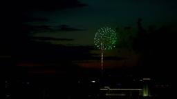 Evening fireworks Footage