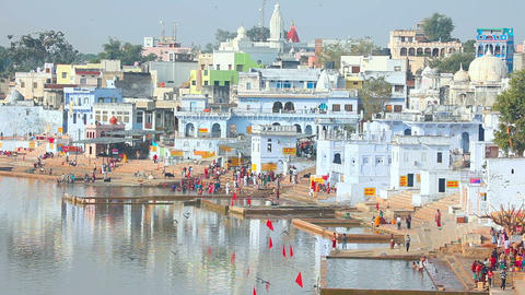 Pushkar lake Footage