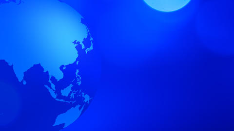 Globe earth spinning animation blue background Footage