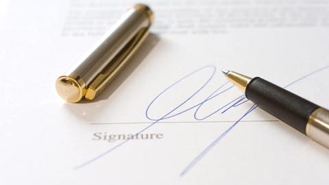 Signed document Footage