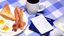 Paying breakfast bill ビデオ