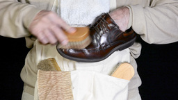Shoe shiner Footage