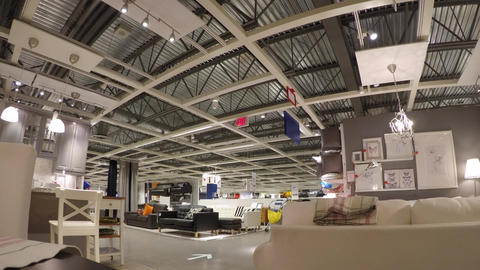 Time lapse of people shopping their furniture insi Footage