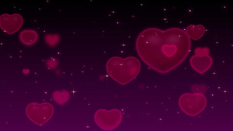 Romantic purple Background Animation