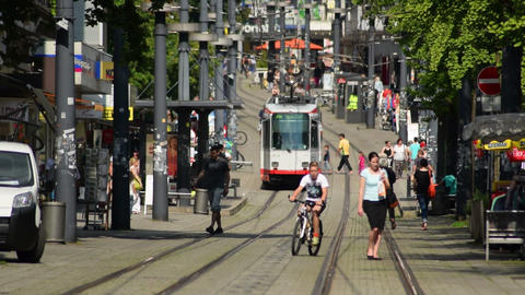 tramway downhill witten city 11590 Footage