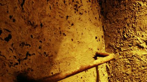 4 K Super Scary Underground Concrete Bunker Entran Footage