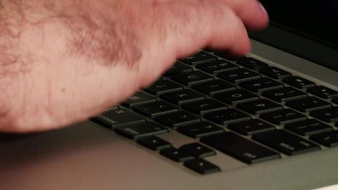 4K Using Laptop Closeup 1 Footage