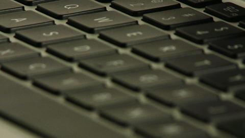 Laptop Keyboard Closeup Rack Focus 1 Footage