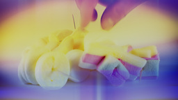 Candies Colorful Picking Yummy Colorful stock footage