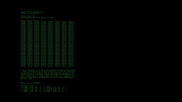 Source code hacker code sniffing green on black Footage