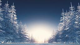 冬の風景 CG動画