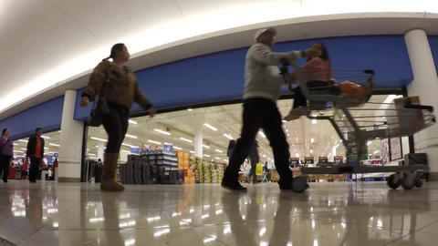 Time lapse of customer buying foods at superstore Footage
