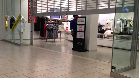 Store closing down at night inside Coquitlam cente Footage