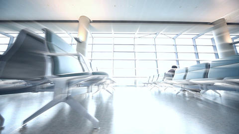 Airport Departures terminal Footage