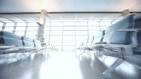 Airport Departures terminal Stock Video Footage