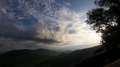 Sunset at valley time lapse Stock Video Footage