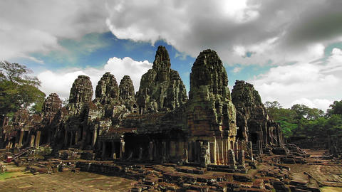 Bayon temple time lapse loop Stock Video Footage