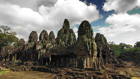 Bayon Temple Time Lapse Loop stock footage