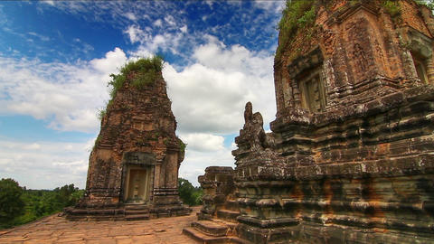 Pre Rup temple time lapse loop Stock Video Footage