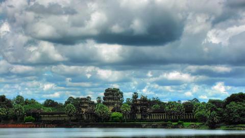 Angkor wat temple time lapse loop Stock Video Footage