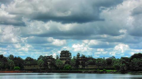 Angkor wat temple time lapse loop Footage