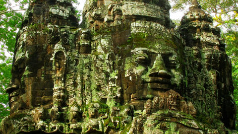 Angkor faces time lapse loop Stock Video Footage