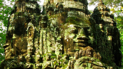 Angkor faces time lapse loop Footage