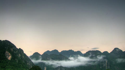 Morning in the mountains time lapse Stock Video Footage