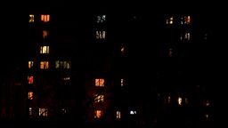 night windows Stock Video Footage