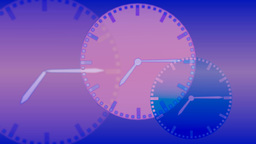 Background with clocks Stock Video Footage