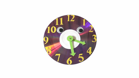 clock CD Stock Video Footage
