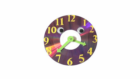 clock CD Stock Video Footage