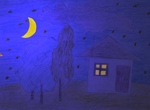 day night animation Stock Video Footage