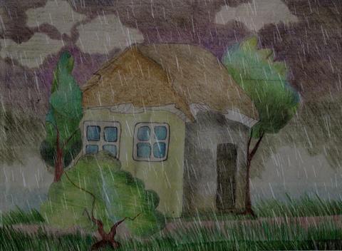 drawing rain animation Stock Video Footage