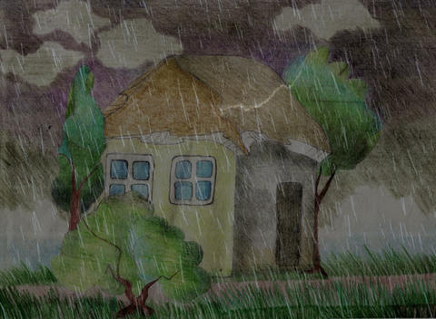 drawing rain animation Stock Video Footage