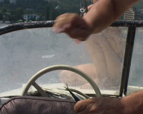 fishing hands close up Stock Video Footage